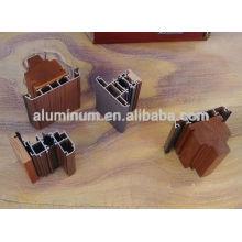 Profils d'extrusion en aluminium en bois pour portes et fenêtres