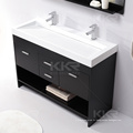 Toilette en pierre solide de surface de lavage de pierre artificielle, éviers de vanité de salle de bains