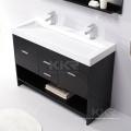 """36 """"Dupla Canto de Bancada de Pedra Acrílico Luxo Set Modern Único Mobiliário de Banho Filipinas Hotel Prefab Casa de Banho Vaidade"""