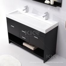O toalete de superfície de pedra contínuo da bacia de lavagem, dissipadores dos vaidades do banheiro
