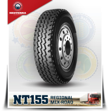 New Brand truck tyre NeoTerra TBR 11R22.5 with warranty,run 120,000km-150,000km,Mix road condition all position NT155