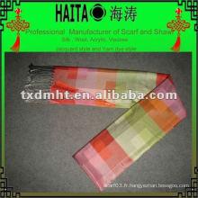 Écharpe colorée pour l'imitation de la soie