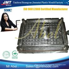 Fabricação smc quadrados composto bueiro capa molde