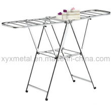 Folding Stainless Steel Drying Metal Coat Clothes Airer