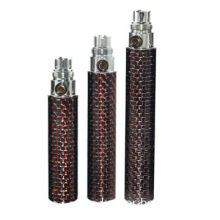CF rechargeable battery ego/evod with durable carbon fiber coated battery