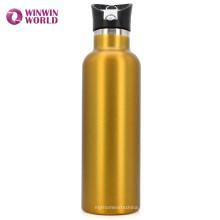 Amazon Heißer Verkauf zu gehen 25oz goldene Reise Edelstahl Vakuum Wasserflasche