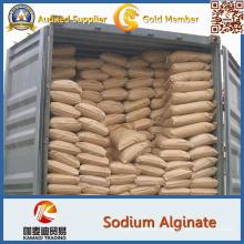 Alginato de sodio-Grado alimenticio, como espesante, estabilizador, polvo blanco