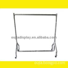 mobile clothes rail/sales man rack/steel clothing shopfitting