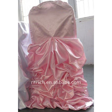 Luxury!!!pink colour satin chair cover,so fascinating,wedding style