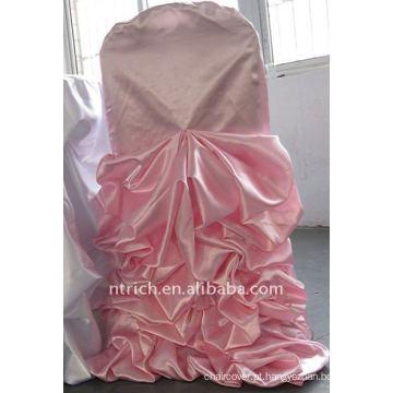 Luxo !!! cor rosa tampa da cadeira de cetim, tão fascinante, estilo de casamento