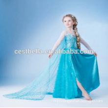 Baby Girl Flower Girl Blue Dress Children Birthday Costume For Evening Party Holiday Party Wedding Graduation