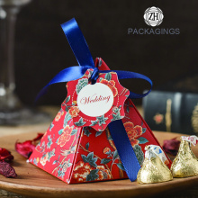 Pyramid wedding favor candy box al por mayor