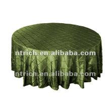 Barata e de alta qualidade tafetá Pintuck toalha de mesa, toalhas de mesa, toalha de mesa para Hotel/banquetes