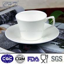 High grade osso china copo de chá por atacado e pires conjunto
