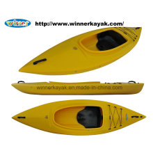 Kayak de la carlinga plástico recreacional solo