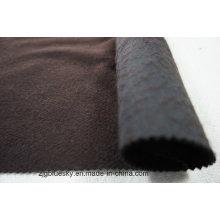 Tissu en laine noir et marron Doule Faces