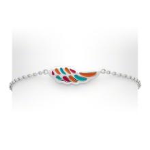 Esmalte colorido Custome 925 prata bracele & bracelete para crianças (kt3502)
