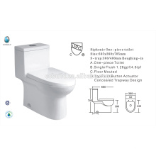 CB-9518 Chine exportateur UPC unique salle de bain à chasse d'eau nouvelle conception des toilettes américaines