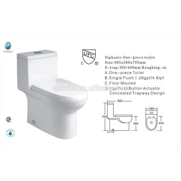 CB-9518 China Exporteur UPC Single Flush Bad neues Design American WC