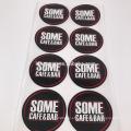 Etiquetas adesivas redondas do vinil ou do papel de 3cm e de 5cm com logotipo feito sob encomenda