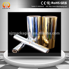 12mic 18mic Gold Silver coated metallized Pet Film Used For Gravure
