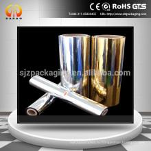 12mic 18mic Золото Покрытая серебром металлизированная пленка любимчика используемая для Gravure