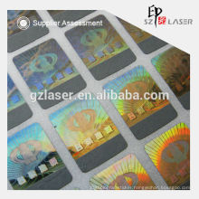 Hologram embossing scratch labels maker for lottery card