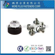 Taiwan Edelstahl 18-8 Nickel plated Stahl Kupfer Messing Zylinder Kopf versteckte Kameras Edelstahl Glas Schraube