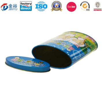 Fabricação de caixa de lata de moeda redonda de qualidade alimentícia Jy-Wd-2015122820