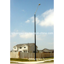 Lighting Pole-M Type Double Arm with FRP Base