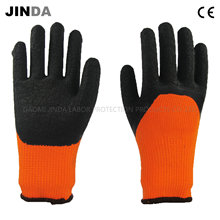 Terry Yarn Liner Latex Crinkle Coated Labor Protective Working Gloves (LH702)