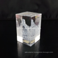 2017 souvenirs crystal block 3D blank laser crystal engraving, glass blank cube 3D crystal laser engraving