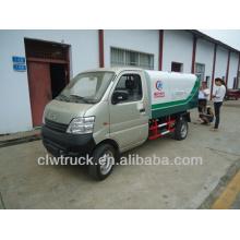 Changan 3m3 mini caminhão de lixo do recipiente para venda