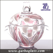 Red Tulip Glass Almacenamiento Jar (GB1805YJX / PDS)
