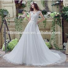 Robe de mariée blanche élégante sirène mince imprimé dentelle sri lanka avec queue de poisson