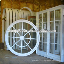 janela redonda do quadro do pvc