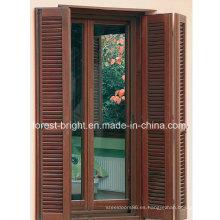 Puerta doble plegable de madera del obturador, puerta de la lumbrera