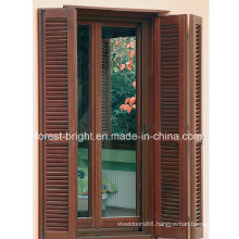 Folding Shutter Wooden Double Door, Louver Door