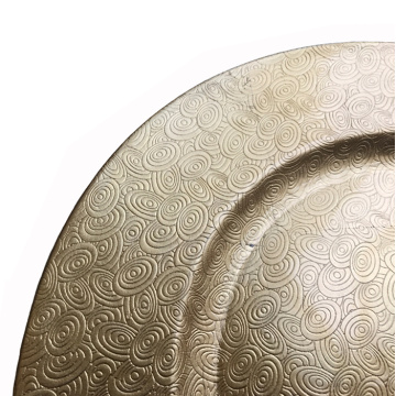 Gold Plastic Plate with Metallic Finish