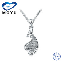 Wholesale Silver Jewelry,large heart pendant,Made of 925 Sterling Silver ,