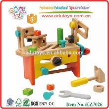 Kids Wooden Education Toy - Conjunto de caixa de ferramentas