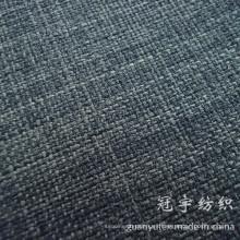 Tela de lino del poliéster del color de 2 tonos para la decoración