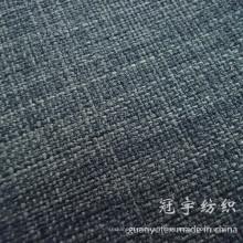 Tissu de lin de polyester de couleur de 2 tons pour la décoration