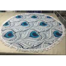 new design cotton wall tapestry / round beach towel with tassel
