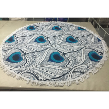 custom printing hot sell round beach towel