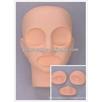 Professionnel tatouage 3D pratique tête / lèvres sourcil Fake Skin