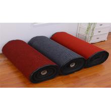 Poliéster vermelho do tapete liso profissional da veludinha preta
