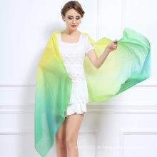 Frauen Fashion Tie-Dyed Farbverlauf Wolle Schal (YKY4518)