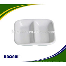 Rectangle ceramic sauce plate for restaurant hotel