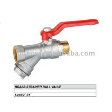 brass strainer ball valve